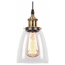 LED 7 Watt Hängeleuchte Pendellampe E27 Esszimmer Glas klar Durchmesser 32,5 cm