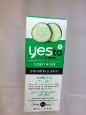 YES TO Cucumbers EYE GEL SOOTHING CUCUMBER Sensitive Skin 1.01 OZ