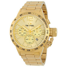 TW STEEL Canteen 50mm Gold Chronograph Gents Watch CB104 - RRP £469 - BRAND NEW