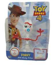 """New Forky with Wacky Action 6"""" Figure Pixar Toy Story 4 Pull 'N Go Disney Toy"""