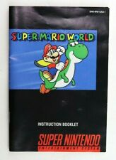 Super Mario World - SNES Super Nintendo Instruction Manual/Booklet Only