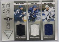 2010-11 Titanium Hat Tricks Triple Jersey /199 Stamkos/Tyrell/Connolly Lightning