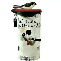 Vintage Birdhouse 2 Lovebirds Building A Nest Piggy Bank With Lock Made In Japan