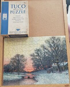 TUCO 2  1930s jigsaw PuzzlesAn Early Winter Sunset and Algiers  both COMPLETE