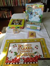 lot of Mary Engelbreit: tins, Nip placemats ,2 bks The Snow Queen rubber stamp
