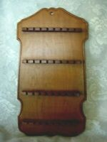 Vintage Collectible Medium Wood/Wooden Spoon Rack - Holds 32 Spoons - Estate Ite