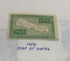 Map Of Nepal Stamp 1984 Unused