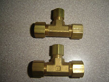 New listing Parker 164C-6-6-4, Union Tee, Brass, Compression 3/8 x 3/8 x 1/4 Inch