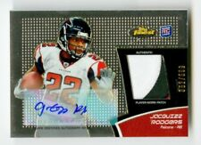 2011 Jacquizz Rodgers Topps Finest RPA Prime Patch Auto /599 Signed Falcons RC