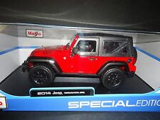 Maisto Jeep Wrangler 2014 Willy's Edition Red 1/18