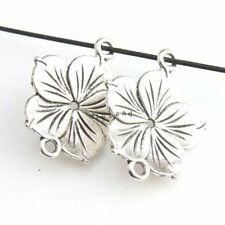 30x Charms Silver Vintage Flower Alloy Connector Pendants 26x21x2mm Fit Carfts D
