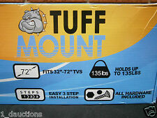 "TUFF MOUNT 5 PIECE HDTV WALL MOUNTING KIT 32"" TO 72"" TV''S TILT MOUNT HDMI CABLE"