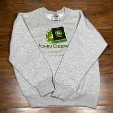 Kids John Deere Sweatshirt Size 10/12 New With Tag Fruit Of The Loom Gray LS