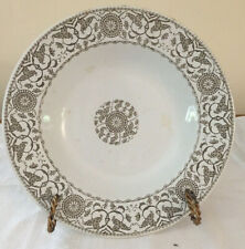 """Antique J & G Meakin """"Cresell Soup Bowl"""" Victorian Age Pattern, Ironstone"""
