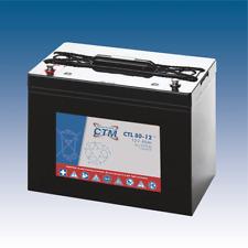 12V 80Ah CTM AGM-Batterie Longlife VRLA