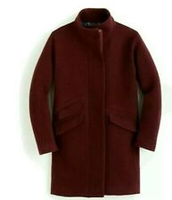 JCrew burgundy Cocoon Coat SZ 4 NWT  Italian stadium-cloth wool