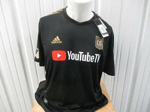ADIDAS MLS AUTHENTIC LOS ANGELES F.C. LAFC 2XL BLACK SEWN JERSEY 2018/20 KIT NWT
