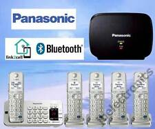 PANASONIC KX-TGE275S DECT 6.0 - 5 CORDLESS PHONES LINK2CELL BLUETOOTH + REPEATER