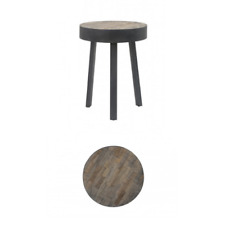 ROUND AMBATA Weathered Wood & Grigio Antico Caffè fine SIDE TABLE shabby chic