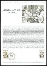 FRANCE CEF 1983 MARTIN LUTHER LUTERO REFORMATION REFORMER SONDERBLATT z2161