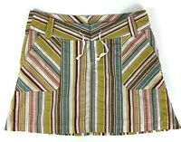 Patagonia Netty Skirt Striped Multicolor Pockets Womens Size 10