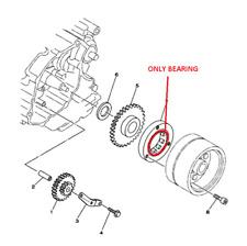 YAMAHA  2003-07 TTR 125 TT-R starter clutch ruota libera one way 4TU-15590-00-00