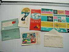 Aeroflot Logo Cccp Vintage Paper Moscow 80 postcard booklet etc
