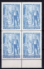 CHILE 1973 STAMP # 826 MNH JOSE MIGUEL CARRERA BLOCK OF FOUR