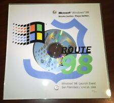 Microsoft 'Windows 98' Collector Disc & Commemorative Display