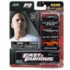 Jada Hollywood Rides NANO Fast and Furious9 3 Car Set Diecast Model Car
