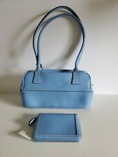 Tommy Hilfiger Women's Blue Satchel Handbag/ Purse with Wallet