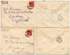 GB KE7 1902 SOUTH AFRICA BRITISH ARMY P.O HARRISMITH to WINDSOR NAUTILUS 2 ENVS