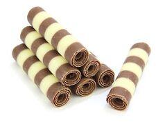 ChocolateTradingCo 30 Striped Mini Chocolate Cigarellos, Cake Decoration, Baking