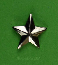 1 Star General Rank silver - collar, shirt, hat, ball cap insignia