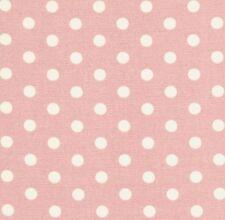Tanya Whelan Petal Ivory Polka Dot on Pink Home Décor Cotton Fabric - V Large FQ