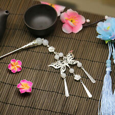 Vintage Hair Clasp Hairpin Geisha Kanzashi Chinese Butterfly Slide Metal Stick