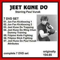 JEET KUNE DO 7 DVD SET PAUL VANUK JKD jun gung fu dummy mma panther productions