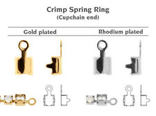 Genuine Swarovski 00 011 Crimp Spring Ring 27004 Cupchains Ends * All Sizes Rhodium Plated 2mm (pp14) 30 Pieces/pack