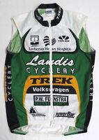 Voler TREK VOLKSWAGEN CYCLING Vest Jacket SMALL Full Zipper VW Landis PowerBar S
