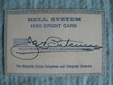 1958 Bell System Credit Card Mountain States Telephone & Telegraph Company