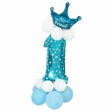 Folienballon Zahlenballon Latexballon Blau Riesenzahl Luftballon Baby Dusche 1I