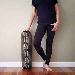 [MANGO TREES] Yoga Bolsters Block Meditation Round Cushion Natural Kapok Filled