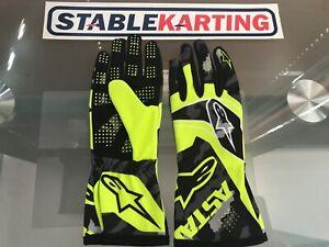Go Kart - Alpinestars Gloves Tech 1 K Race S - KIDS - Yellow/Black-Large