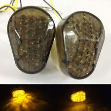 Motorcycle Flush LED Turn Signal Blinker Amber Light For Kawasaki ZX 12R 10R 9R