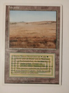 MtG - Magic the Gathering - SAVANNAH - Dual Land - GERMAN Revised - Mint/NM  OOP