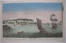 OPTICAL VIEW visionneuse Feuille Tamise embouchure Essex Orig CUIVRE clés 1750 Britain