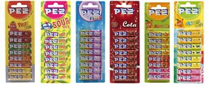 PEZ FRUIT, FIZZY, SOUR, COLA, MANGO, EXOTIC CANDY REFILLS FOR DISPENSER SWEETS