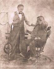"Hendrickson Original Photo Sepia HENDRICKSON HIMSELF DENTIST w/ Patient 11x14"""