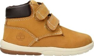 Childrens Boys Timberland Leather casual 2 strap Mid Shoes Trainers Size UK