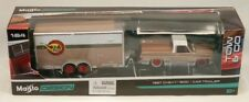 Maisto 1987 Chevrolet 1500 Pickup Truck with Cargo Trailer Tow & Go 1:64 Scale